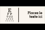 Tableau oculaire Affichette - gabarit prédéfini. <br/>Utilisez notre logiciel Avery Design & Print Online pour personnaliser facilement la conception.