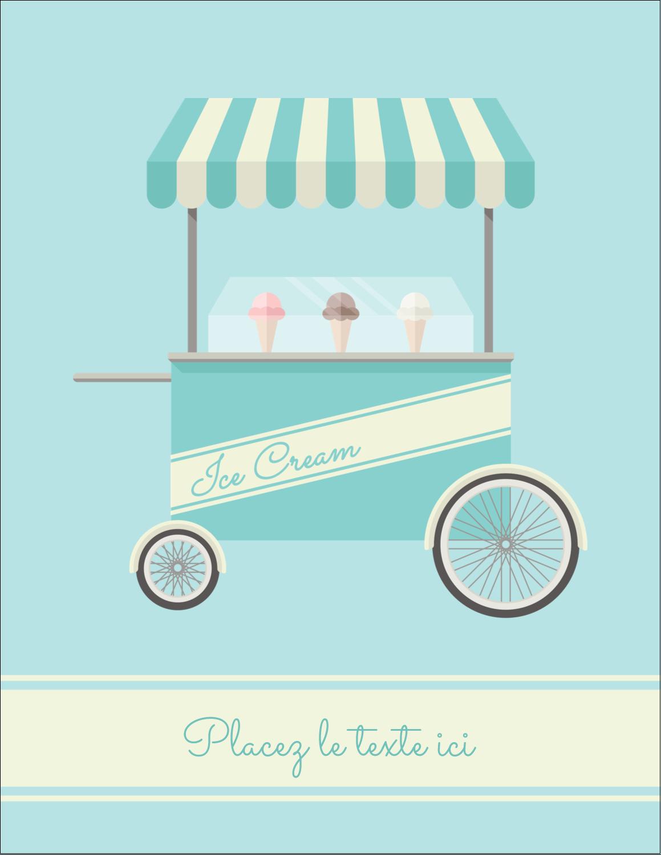 """5½"""" x 4¼"""" Carte Postale - Chariot à crème glacée"""