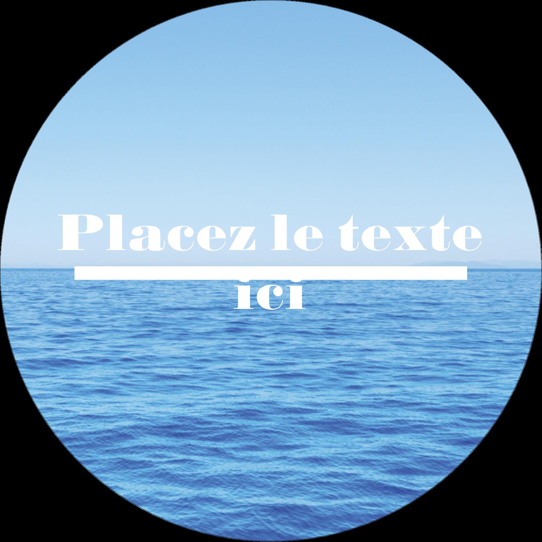 """2½"""" Diameter Étiquettes rondes - Ciel-océan"""