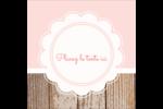 Dentelle sur bois Étiquettes carrées - gabarit prédéfini. <br/>Utilisez notre logiciel Avery Design & Print Online pour personnaliser facilement la conception.