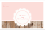 Dentelle sur bois Étiquettes d'adresse - gabarit prédéfini. <br/>Utilisez notre logiciel Avery Design & Print Online pour personnaliser facilement la conception.