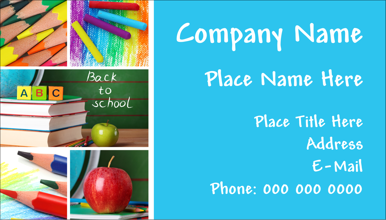 "2"" x 3½"" Business Card - Pencil Education"