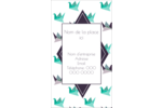 Grue en origami Carte d'affaire - gabarit prédéfini. <br/>Utilisez notre logiciel Avery Design & Print Online pour personnaliser facilement la conception.
