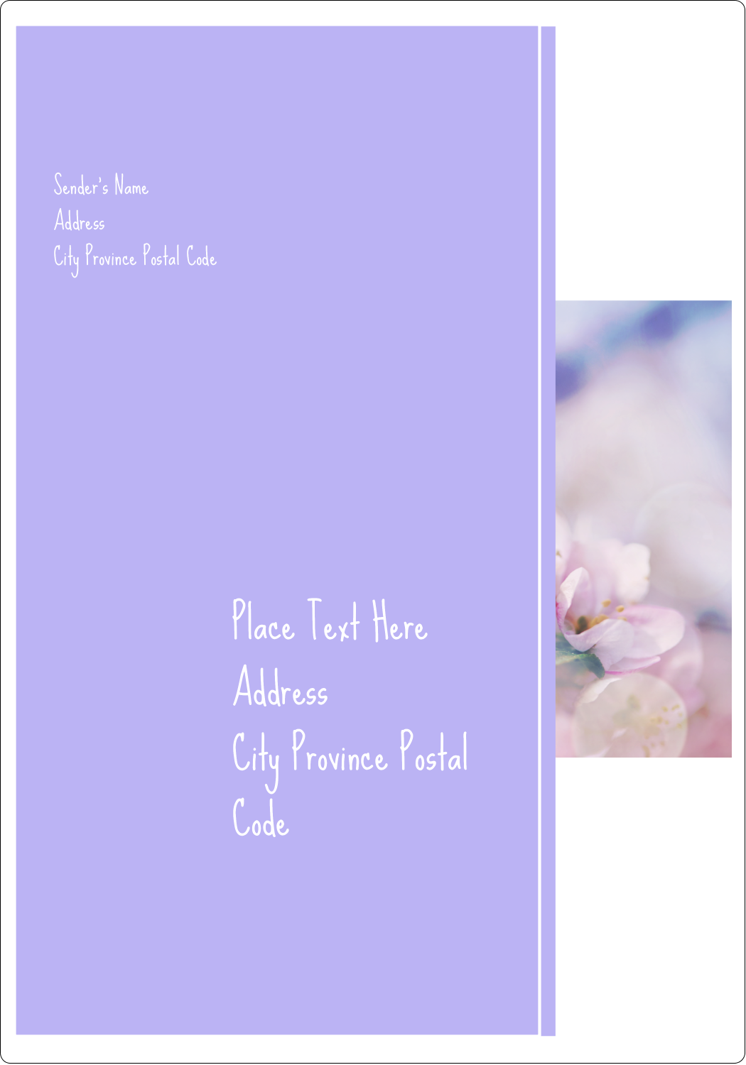 "5"" x 3½"" Shipping Label - Floral Dream"