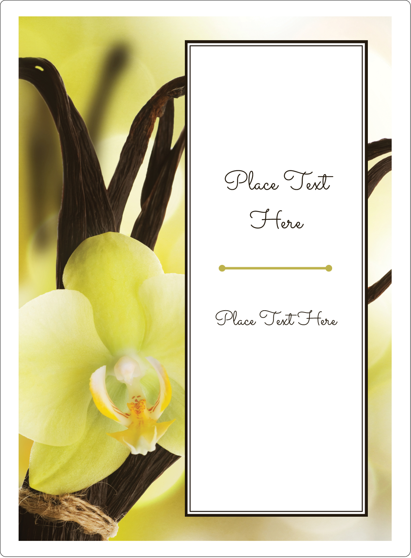 "4¾"" x 3½"" Rectangular Label - Vanilla Bean Flower"