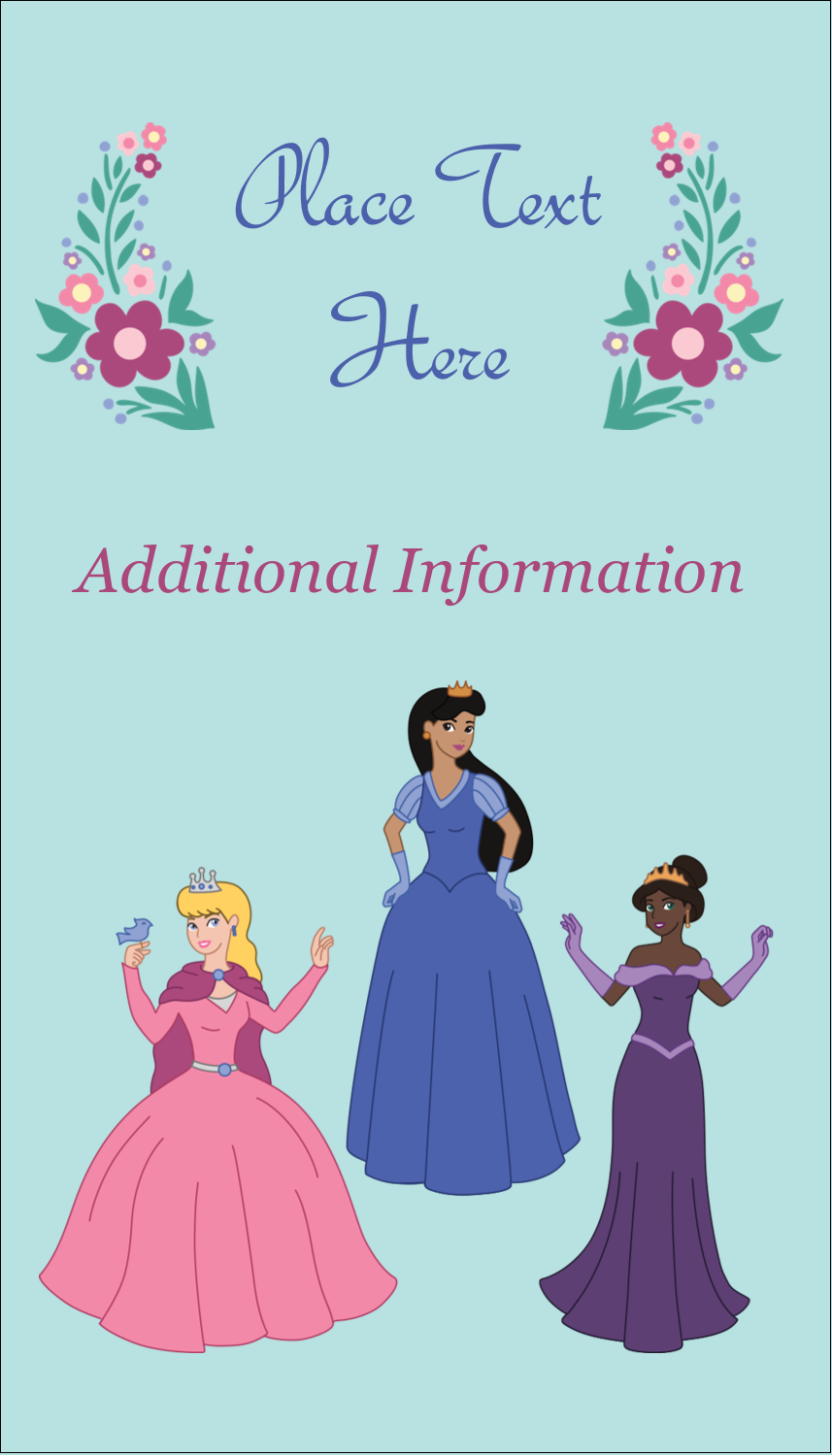 "3½"" x 2"" Business Card - Princesses"