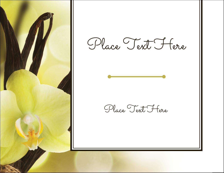 "4¼"" x 5½"" Postcard - Vanilla Bean Flower"