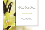 Create a soothing sense of well being with pre-designed Vanilla Bean Flower templates.