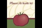 Tomate italienne Étiquettes carrées - gabarit prédéfini. <br/>Utilisez notre logiciel Avery Design & Print Online pour personnaliser facilement la conception.