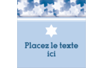 Étoile de David Judaism Étiquettes carrées - gabarit prédéfini. <br/>Utilisez notre logiciel Avery Design & Print Online pour personnaliser facilement la conception.
