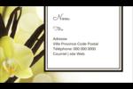 Fleur de vanille Carte d'affaire - gabarit prédéfini. <br/>Utilisez notre logiciel Avery Design & Print Online pour personnaliser facilement la conception.