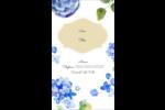 Bleu floral  Carte d'affaire - gabarit prédéfini. <br/>Utilisez notre logiciel Avery Design & Print Online pour personnaliser facilement la conception.