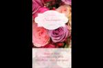 Bouquet de roses Carte d'affaire - gabarit prédéfini. <br/>Utilisez notre logiciel Avery Design & Print Online pour personnaliser facilement la conception.