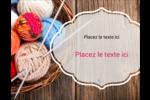 Tricot Carte Postale - gabarit prédéfini. <br/>Utilisez notre logiciel Avery Design & Print Online pour personnaliser facilement la conception.