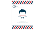 Salon de barbier Carte Postale - gabarit prédéfini. <br/>Utilisez notre logiciel Avery Design & Print Online pour personnaliser facilement la conception.