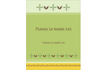 Fleurs vertes géométriques Carte Postale - gabarit prédéfini. <br/>Utilisez notre logiciel Avery Design & Print Online pour personnaliser facilement la conception.
