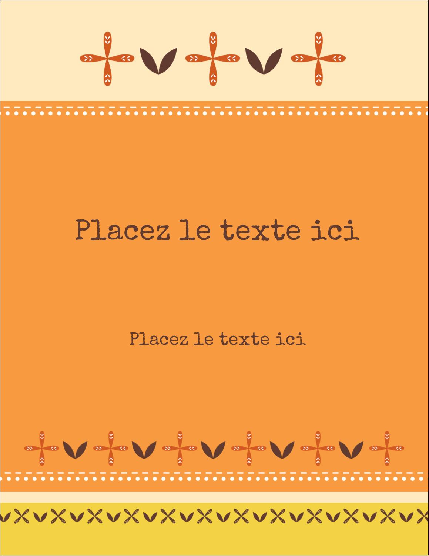 """5½"""" x 4¼"""" Carte Postale - Fleurs orange géométriques"""