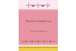Fleurs roses géométriques Carte Postale - gabarit prédéfini. <br/>Utilisez notre logiciel Avery Design & Print Online pour personnaliser facilement la conception.