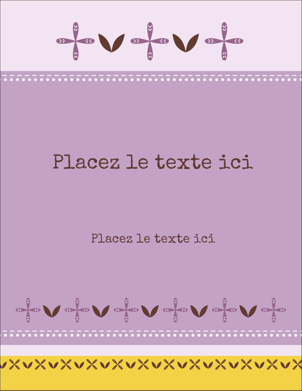 """5½"""" x 4¼"""" Carte Postale - Lavande géométrique"""
