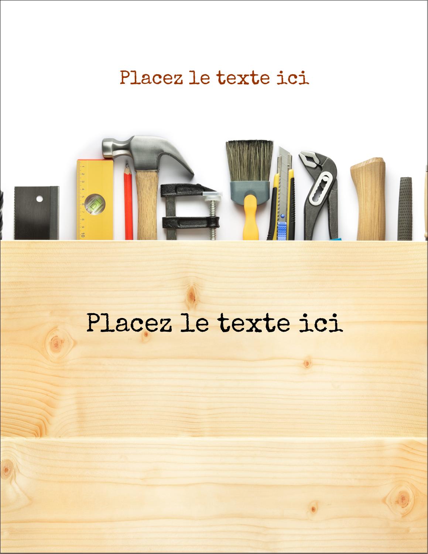 "5½"" x 4¼"" Carte Postale - Menuiserie"