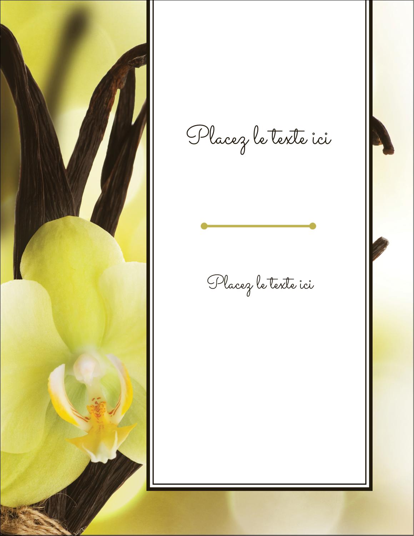 "5½"" x 4¼"" Carte Postale - Fleur de vanille"
