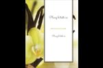 Fleur de vanille Carte Postale - gabarit prédéfini. <br/>Utilisez notre logiciel Avery Design & Print Online pour personnaliser facilement la conception.