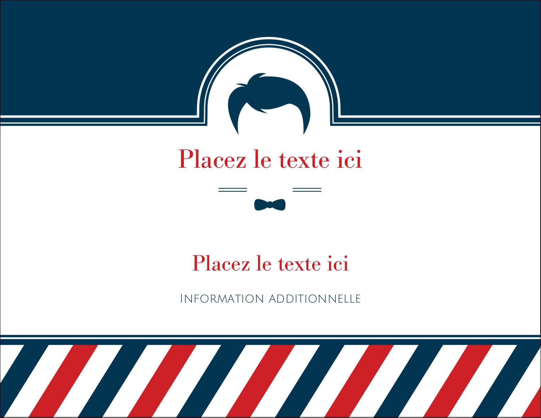 """4¼"""" X 5½"""" Carte Postale - Salon de barbier"""