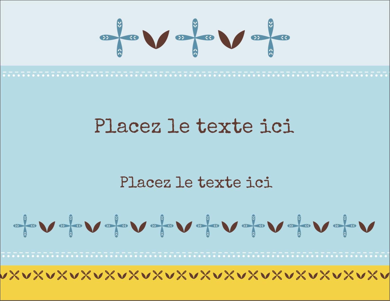 "4¼"" X 5½"" Carte Postale - Bain bleu"