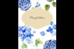 Bleu floral  Carte Postale - gabarit prédéfini. <br/>Utilisez notre logiciel Avery Design & Print Online pour personnaliser facilement la conception.