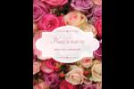 Bouquet de roses Carte Postale - gabarit prédéfini. <br/>Utilisez notre logiciel Avery Design & Print Online pour personnaliser facilement la conception.