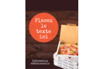 Livraison de pizza Carte Postale - gabarit prédéfini. <br/>Utilisez notre logiciel Avery Design & Print Online pour personnaliser facilement la conception.