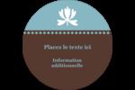 Bordure en brun et bleu Étiquettes rondes - gabarit prédéfini. <br/>Utilisez notre logiciel Avery Design & Print Online pour personnaliser facilement la conception.
