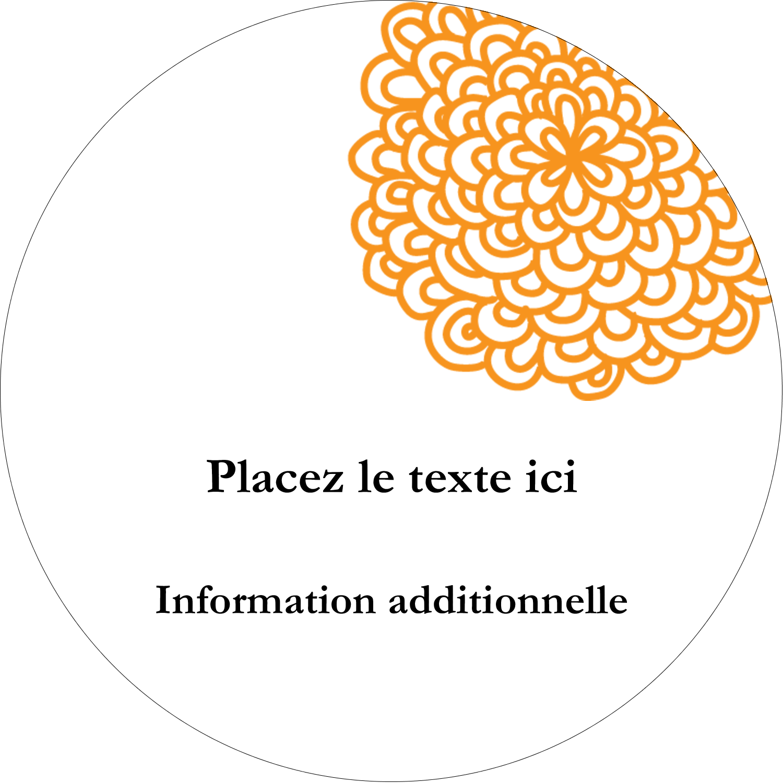 """3"""" Diameter Étiquettes rondes - Ex-libris générique"""