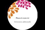 Fête prénuptiale en rose et orange Étiquettes rondes - gabarit prédéfini. <br/>Utilisez notre logiciel Avery Design & Print Online pour personnaliser facilement la conception.