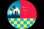Surf tropical Étiquettes rondes - gabarit prédéfini. <br/>Utilisez notre logiciel Avery Design & Print Online pour personnaliser facilement la conception.