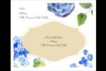 Bleu floral  Étiquettes d'expédition - gabarit prédéfini. <br/>Utilisez notre logiciel Avery Design & Print Online pour personnaliser facilement la conception.