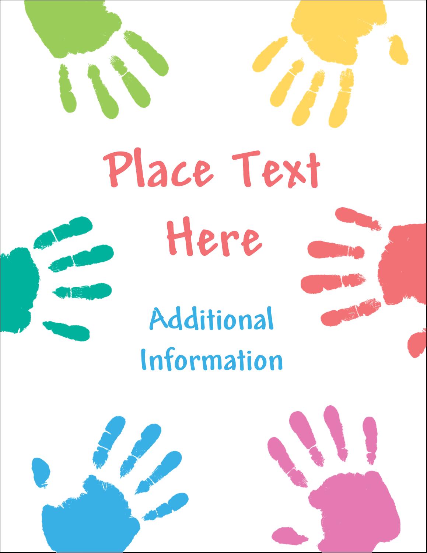 "5½"" x 4¼"" Postcard - Childcare Hands"