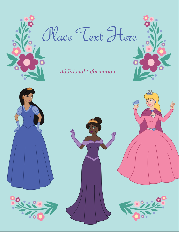 "5½"" x 4¼"" Postcard - Princesses"