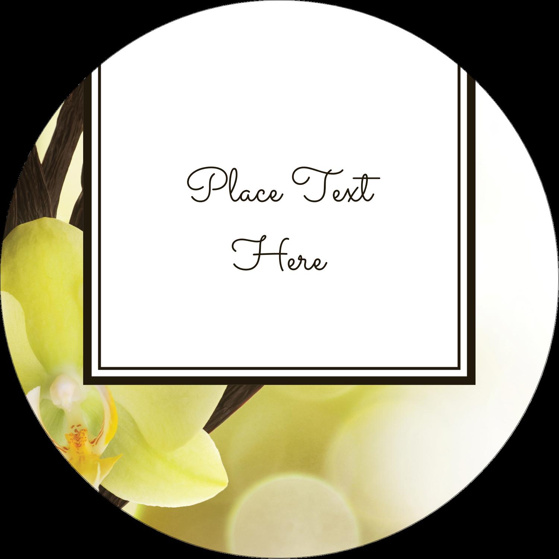"""3"""" Round Label - Vanilla Bean Flower"""