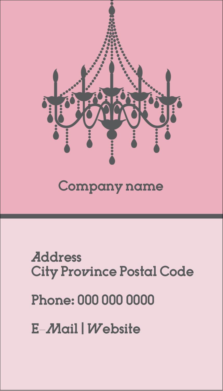 "3½"" x 2"" Business Card - Chandelier"