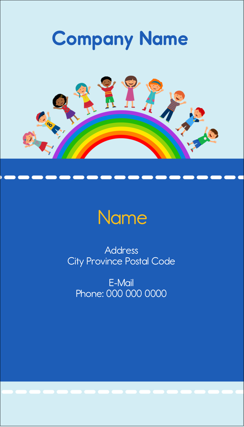 "3½"" x 2"" Business Card - Childcare Education"