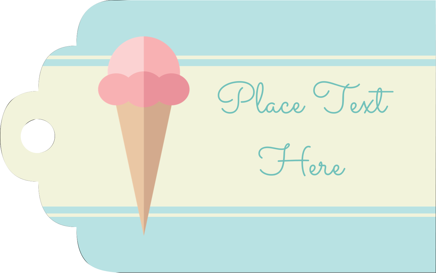 "2"" x 1⅛"" Printable Tags - Ice Cream Cart"