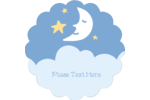 Bring a sense of sweet dreams to your project with pre-designed Moon Baby templates.