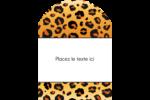 Imprimé léopard Étiquettes rectangulaires - gabarit prédéfini. <br/>Utilisez notre logiciel Avery Design & Print Online pour personnaliser facilement la conception.