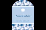 Étoile de David Étiquettes rectangulaires - gabarit prédéfini. <br/>Utilisez notre logiciel Avery Design & Print Online pour personnaliser facilement la conception.
