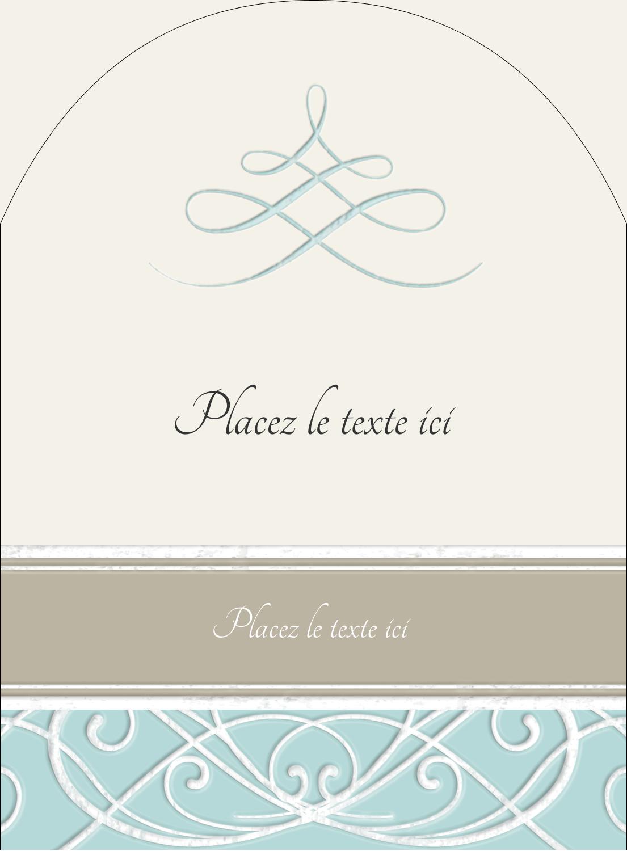 """4¾"""" x 3½"""" Étiquettes rectangulaires - Typographie élégante"""