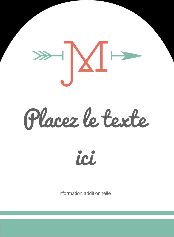 """4¾"""" x 3½"""" Étiquettes rectangulaires - Monogramme"""