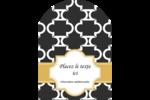 Tuile marocaine noire Étiquettes rectangulaires - gabarit prédéfini. <br/>Utilisez notre logiciel Avery Design & Print Online pour personnaliser facilement la conception.