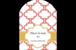 Tuile marocaine saumon Étiquettes rectangulaires - gabarit prédéfini. <br/>Utilisez notre logiciel Avery Design & Print Online pour personnaliser facilement la conception.
