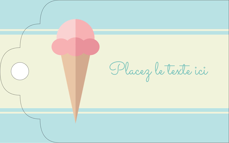 """2"""" x 1⅛"""" Étiquettes imprimables - Chariot à crème glacée"""
